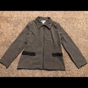 Vintage B&W Gingham Jacket Size Lg.